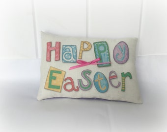 Happy Easter Pillow | Easter basket stuffer | Easter decoration | Happy Easter decor