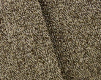 Brown Herringbone Boucle Upholstery Fabric, Fabric By The Yard