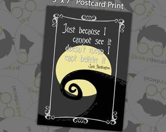 Postcard Print - Nightmare Quote - 5x7