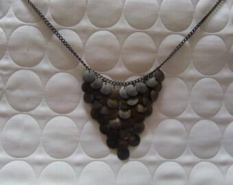 Vintage Silver Tone Unique Gepsy Looking Necklace