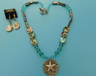 Sanddollar Starfish Pendant Necklace