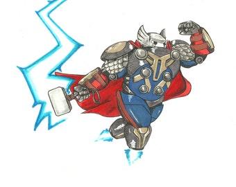 ORIGNAL Thor/Baymax marker sketch