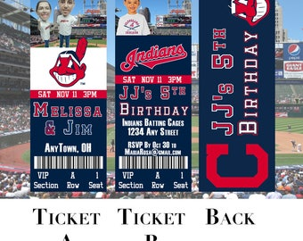 Cleveland Indians Ticket Invitation