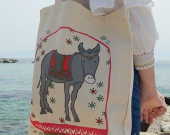 Greek Donkey - Cotton Tote