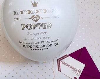 Bridesmaid Proposal Keepsake Balloon