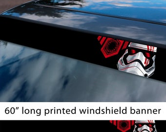 "60"" First Order Stormtrooper Star Wars Strip Printed Windshield Sticker Decal"