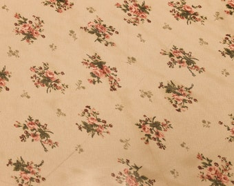 Tan Floral Print Chiffon Fabric By The Yard Style 8074
