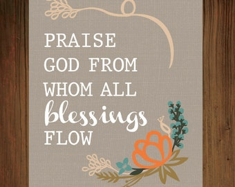 Praise God From Whom All Blessings Flow Print
