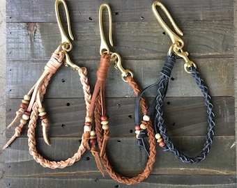 Leather Braided Lanyards