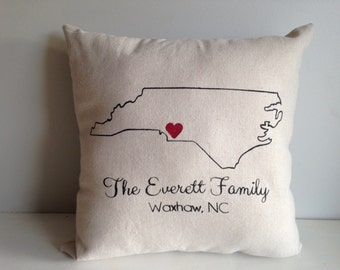 Personalized Home State Love Pillow