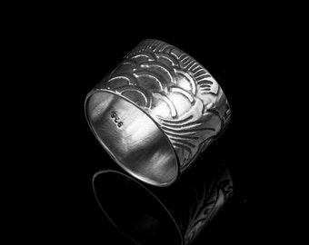 Sterling Silver Ring 'Wallpaper', Silver Ring, Sterling Silver, Artisan Ring, Contemporary Ring