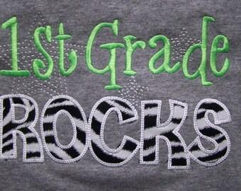 First Grade Rocks tshirt 1st Grade Rocks  shirt