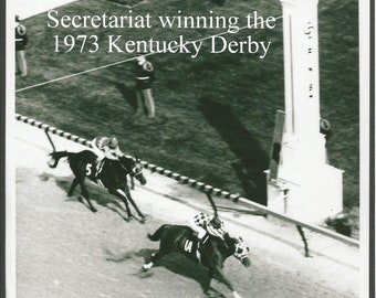 "SECRETARIAT winning the Kentucky Derby - 8"" x 10"""