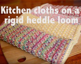 Textured Kitchen Cloths 4 ways PDF pattern for rigid heddle loom digital download