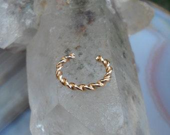 Ear Cuff - Ear Wrap - Ear Band - Conch Cuff - Fake Piercing - Faux Piercing - Fake Piercings - Conch - 14K Yellow Gold Filled - Non Pierced