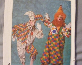 51% OFF Jester and Clown Child's Costume Uncut Simplicity Sewing Pattern 9245 Size Small