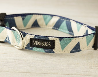 Chevron dog collar, modern dog collar