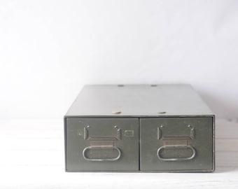 Vintage File Box Vintage File Drawers File Cabinet Vintage Office Filing