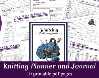 Knitting Planner and Journal Printable PDF