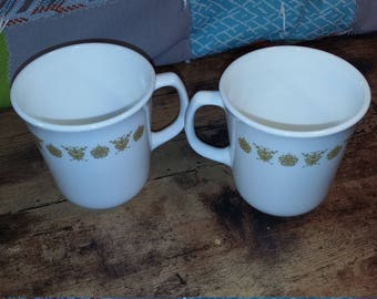 corning ware butterfly gold coffee cups