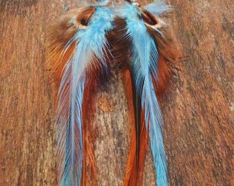 Feather Earrings, Feather Statement Earrings, Bohemian Trends, Festival Fashion, Hippie Jewelry, Boho Feather Earrings, Tribal Earrings