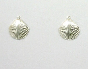 Sterling Silver Seashell Charms, Set of 2