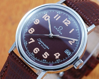 Omega Seamaster De Ville Stainless Steel Vintage Watch!