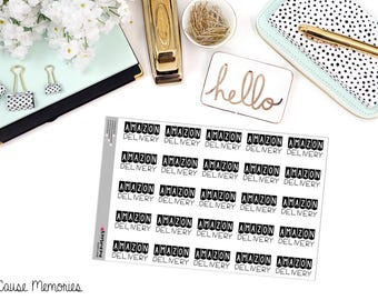 AMAZON DELIVERY Paper Planner Stickers