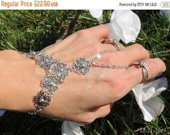 Sale Bridal hand chain wedding slave bracelet, bracelet ring, hippie bracelet, hippie jewelry, fitted, adjustable, chain finger bracelet
