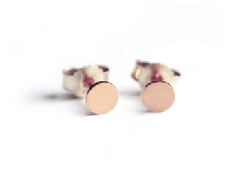 Rosegoldplated Silver Studs Earring Dots, big