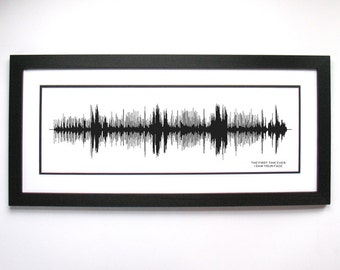 "Roberta Flack - ""The First Time Ever I Saw Your Face"" - Song SoundWave Art - Created From Entire Song"