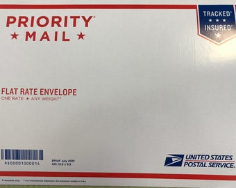 Flat Rate Envelope for International Shipping only. Priority Mail.