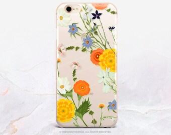 iPhone X Case iPhone 8 Case iPhone 7 Case Summer Floral Clear GRIP Rubber Case iPhone 7 Plus Clear Case iPhone SE Case Samsung S8 Case U386