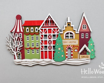 Wooden Christmas Decoration Wall Hanging