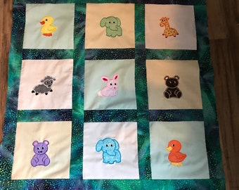 Embroidered, Appliqué Baby Blanket