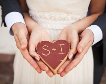 Red Heart Ornament . Engagement Ornament . wood ornament . rustic heart ornament . wooden ornaments  . couples ornament . boyfriend gift