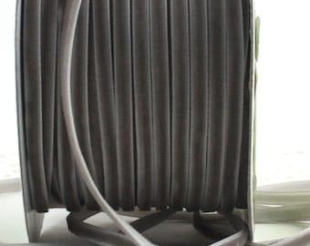 """Gray Velvet Ribbon, 1/8"""" wide"""