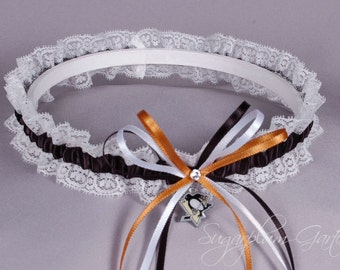 Pittsburgh Penguins Lace Wedding Garter - Ready to Ship