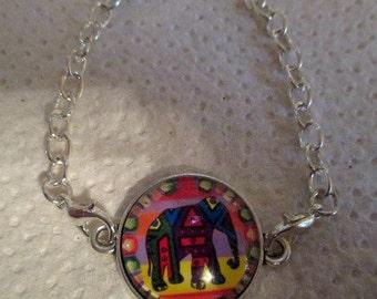 Colorful Elephant Bracelet - Interchangeable Bracelet - one item