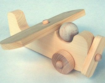 D.I.Y.  Craft Kit , Wooden Plane, Wood Airplane. Push Toy