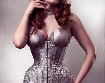 BESPOKE Brocade Bellecurve waist training Corset