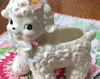 Oh Sheep! Vintage Baby Lamb Planter - A Sweet Girly-Girl
