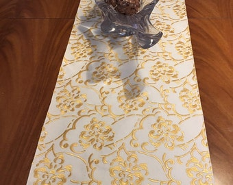 51x14in embroidered table runner