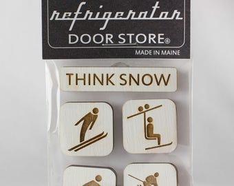 Gift for friends. Refrigerator Magnet. Fridge Magnets. Kitchen Magnets. Magnets. Think Snow.
