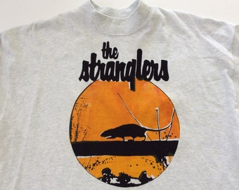 The Stranglers Sweater - Rattus Norvegicus - Punk Rock Long Sleeve Shirt -XL Light Grey