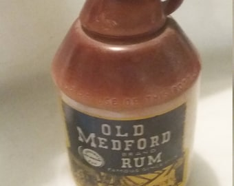 Old Medford Brand Rum Bottle
