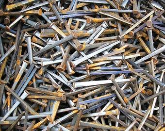 Vintage Nails Vintage Rusty Nails Salvaged Nails 2 1/4 Inches Long 15 Vintage Nails