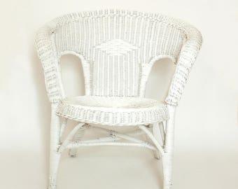 antique deco white wicker chair victorian style full size chair indooroutdoor porch - White Wicker Chair