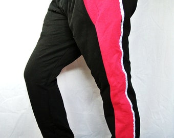 black and pink funky joggers