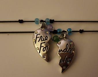 Friends forever cord charm bracelets